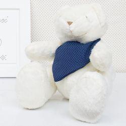 Urso Bandana Poá Azul 34cm