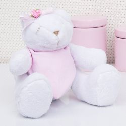Urso Bandana Rosa 25cm
