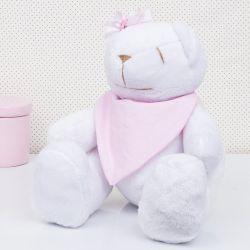 Urso Bandana Rosa 34cm