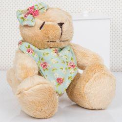 Urso Bandana Floral 28cm