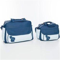 Conjunto de Bolsas Maternidade Cat Baby Azul e Marinho