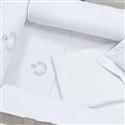 Jogo de Lençol para Berço Desmontável Urso Branco 1,08m x 80cm