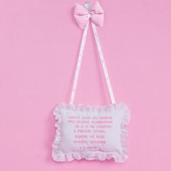 Porta Maternidade Oração Santo Anjo Realeza Rosa