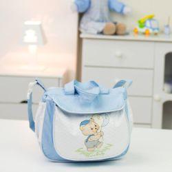 Frasqueira Maternidade Ursinho Balão Azul 26cm