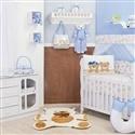 Quarto para Bebê sem Cama Babá Ciranda Cirandinha Azul