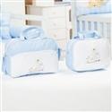 Conjunto de Bolsas Maternidade Safari Azul