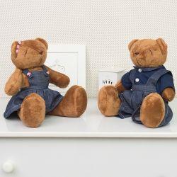 Urso Casal Jardineiro 34cm