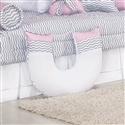 Almofada para Amamentação Baby Chevron Rosa