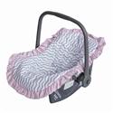 Capa de Bebê Conforto Baby Chevron Rosa