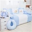 Kit Cama Babá Urso Amigo Azul