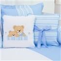 Almofadas Decorativas Urso Amigo Azul
