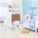 Quarto para Bebê sem Cama Babá Soninho Azul