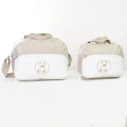 Conjunto de Bolsas Maternidade Teddy Cáqui