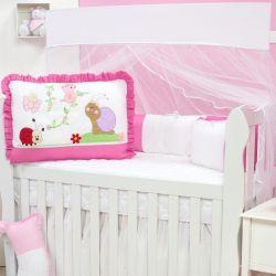 Kit Berço Caracol Pink