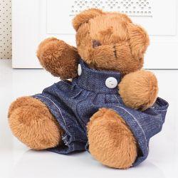 Urso Mini Jardineiro 13cm