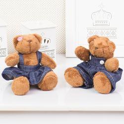 Irmãos Ursos Jardineiros 13cm