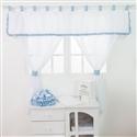Cortina Foguete Azul Bebê