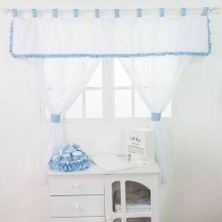 Cortina Transportes Azul Bebê 1,50m