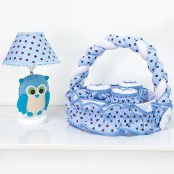 Kit Acessórios Corujinha Azul
