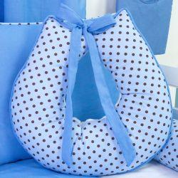 Almofada Amamentação Poá Azul