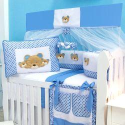 Kit Berço Família Urso Azul