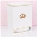 Porta Fraldas Realeza Dourada com Pérolas e Strass
