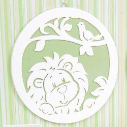 Quadro Leão Verde