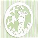 Placa Decorativa Girafa