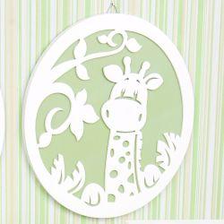 Quadro Girafa Verde