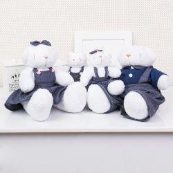 Família Ursos Jardineiros Branco