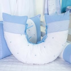 Almofada Amamentação Marina Azul Bebê
