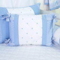 Almofada Jardineira Marina Azul Bebê 50cm