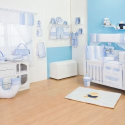Quarto de Bebê sem Cama Babá Marina Azul Bebê