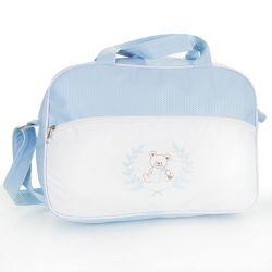 Bolsa Maternidade Ursinho Azul 38cm