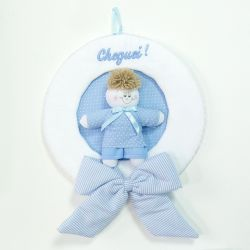 Porta Maternidade Marina Azul Bebê