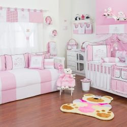 Quarto de Bebê Família Urso Rosa