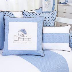 Almofadas Família Urso Azul 3 Peças