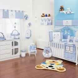 Quarto de Bebê sem Cama Babá Família Urso Azul