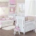 Quarto para Bebê sem Cama Babá Dupla Face Royal Rosa
