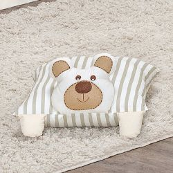 Travesseiro Decorativo Urso Royal Bege