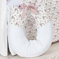 Almofada Amamentação Charlotte Floral Rosê