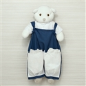 Porta Fraldas Urso Elegance Marinho