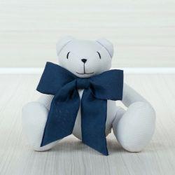 Urso Laço Marinho 34cm