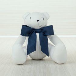 Urso Laço Marinho 40cm