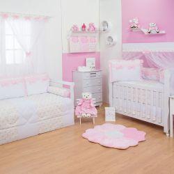 Quarto para Bebê Charlotte Floral Rosa