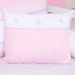 Almofada Decorativa Botões Sonhare Rosa
