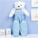 Porta Fraldas Urso Teddy Azul