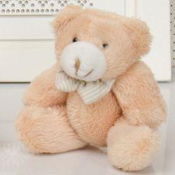 Urso Caramelo com Gravata 14cm