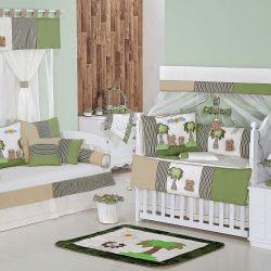 Quarto para Bebê sem Cama Babá Savana Verde