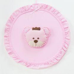 Porta Maternidade Ursa Realeza Rosa